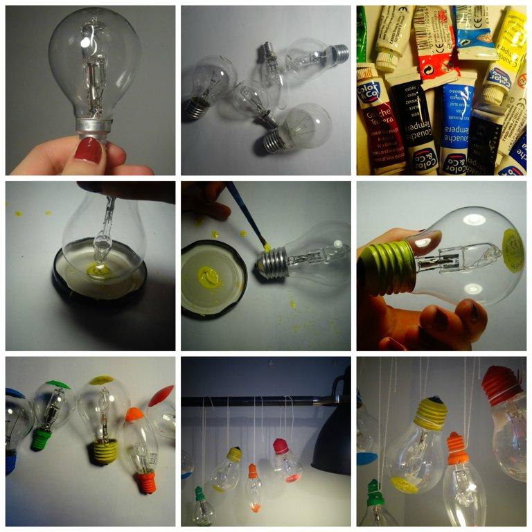 ampoules en couleur / diy - crÉation - panoramonde